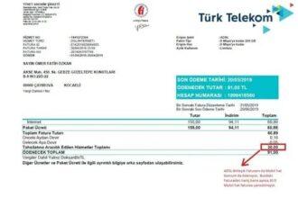 ADSL İnternet Faturası Ödeme